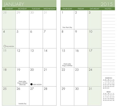 Printable Pocket Monthly Planner 2015 | pocket calendar printable 2014 autos post
