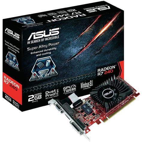 Vga Card Asus Ati Radeon 2gb asus radeon r7 240 2gb graphics card 90yv04t0 m0na00 ccl computers