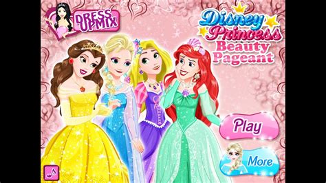Disney Princess Beauty Pageant- Fun Online Fashion Games ... Kids Games For Girls Disney Free Online