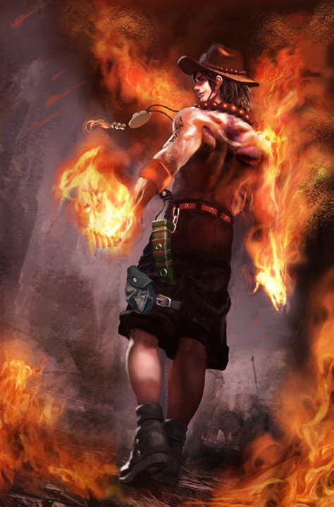 fire fist ace by irenukia on deviantart fire fist ace one piece others theanimegallery com