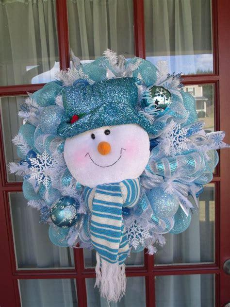 christmas light blue turquoise  white snowman  crazyboutdeco  christmas mesh