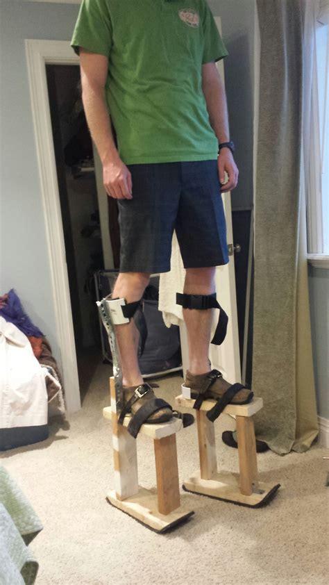 homemade stilts  steps