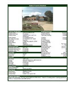 House For Sale Spec Sheet Template by Commercial Real Estate Software Property Datasheet