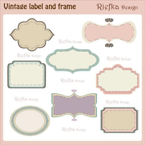 19 vintage label template images free vintage tag label