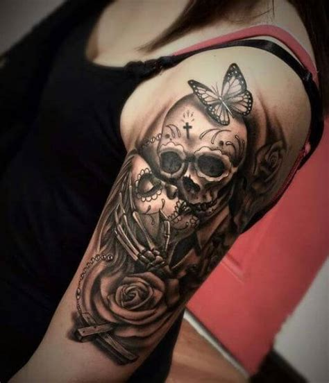 pin up tattoo for men 145 badass skull tattoos for and 2018 page