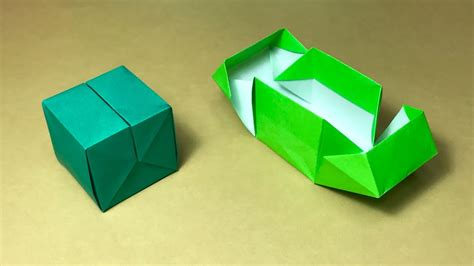 origami gift box with one of paper