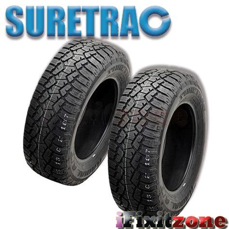 rugged all terrain tires 4 suretrac radial a t lt275 65r18 123 120s rugged all terrain performance tires