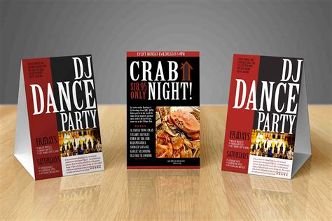 Table Tents Printing Los Angeles Full Color Table Tent Table Tent Printing