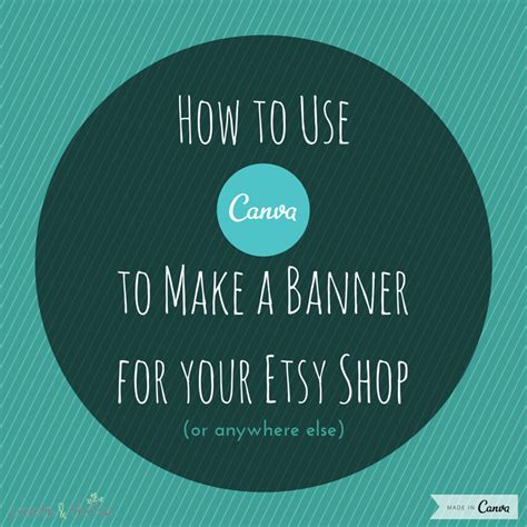 canva etsy banner video tutorial how to use canva to make a banner for