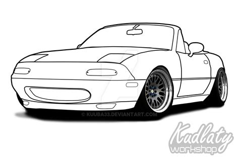 miata drawing mazda mx 5 na by kuuba33 on deviantart
