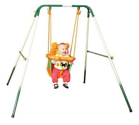 Stand Up Baby Swing Sports Power Indoor Outdoor Toddler Folding Swing Set