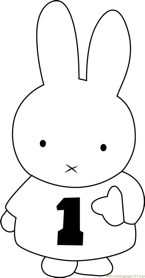 miffy number  coloring page  miffy coloring pages coloringpagescom