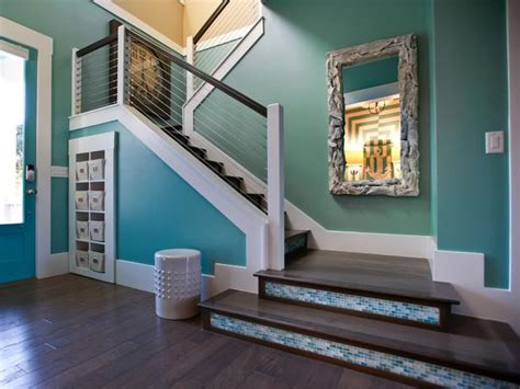 turquoise paint colors contemporary entrance foyer sherwin williams drizzle hgtv