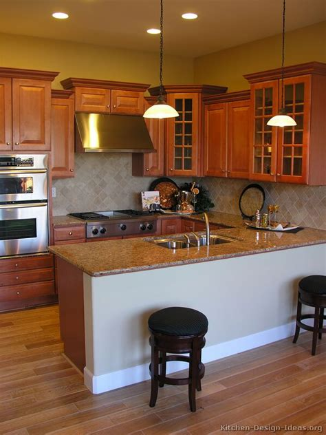 pictures of kitchens traditional medium wood cabinets