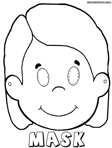 printable girl mask mask coloring pages coloring pages to download and print
