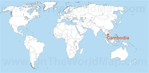 cambodia in the world map cambodia on the world map cambodia on the asia map