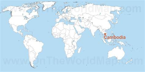 cambodia   world map cambodia   asia map
