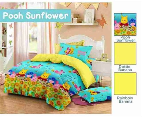 Sprei Pooh Detail Produk Sprei Dan Bedcover Pooh Sunflower Toko