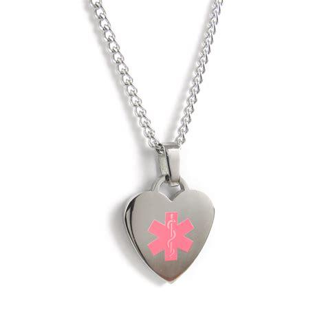 alert id necklace custom engraved stainless steel