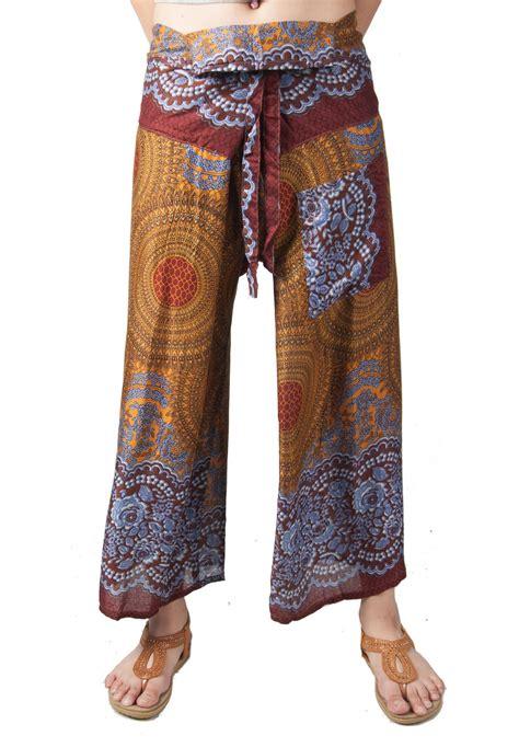 Pant Thai lofbaz s thai fisherman wide leg trousers maternity harem ebay