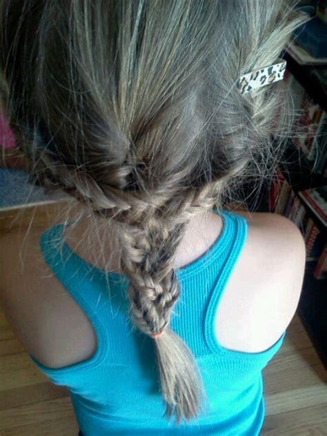 braids sissy 3 fishtail braids into 1 normal braid lil sissy s hair