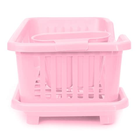 Tupperware Dish Drainer Rack Pink 4 color kitchen dish sink drainer drying rack wash holder