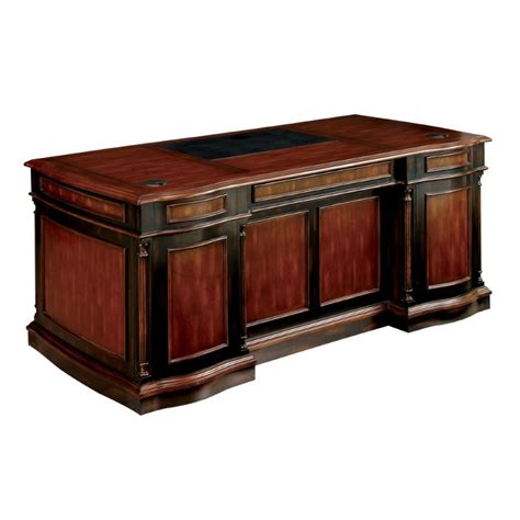 America Desk by Furniture Of America Gilmour Executive Desk In Cherry And
