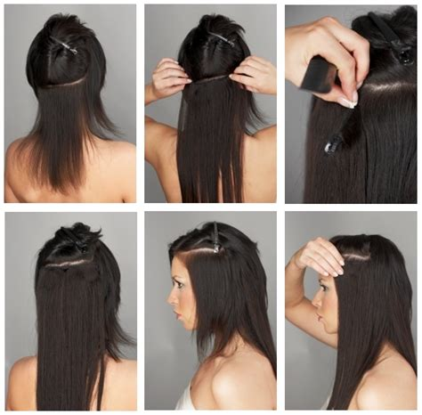 hairstyles with clip on hair extensions how to apply hair extensions hotstyle