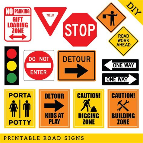 printable road construction signs 51 best construction party images on pinterest birthday