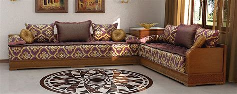 canapé marocain design salon marocain velour