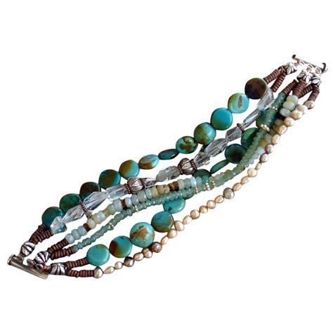 Tiger Eye Gemstone Bracelet gemstone bracelet turquoise tiger s eye aquamarine