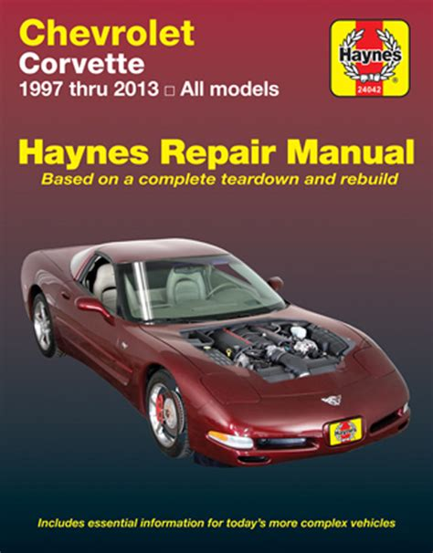 book repair manual 1961 chevrolet corvette engine control chevrolet corvette haynes repair manual 1997 2013 hay24042