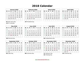 Calendar 2018 South Africa With Holidays Blank Calendar 2018