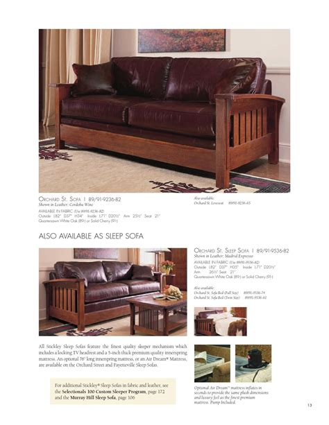 stickley fine upholstery issuu stickley fine upholstery leather collection by
