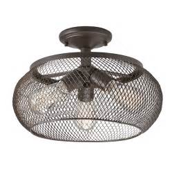 Flush Mount Lighting Shop Kichler 14 02 In W Olde Bronze Metal Semi Flush Mount