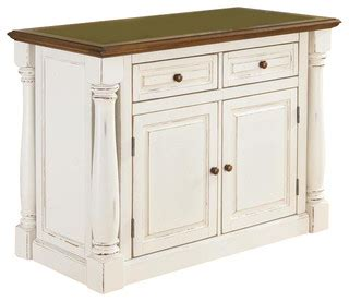 kitchen island in antique white finish contemporary