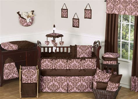pink and brown nursery unique discount pink and brown damask designer luxury baby