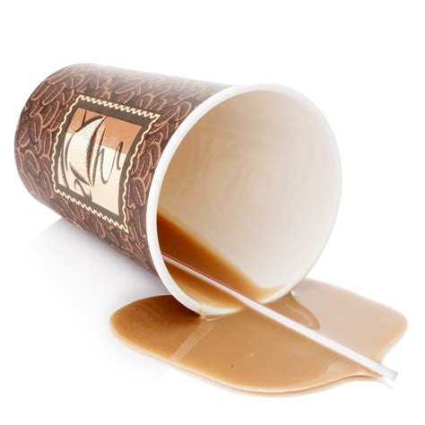 Unique Coffee Mug by Coffee To Go Cup Spilled