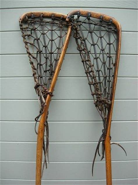 Handmade Lacrosse Sticks - antique lacrosse sticks handmade of hickory wood and