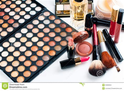 Make Cosmetic makeup and cosmetics set stock images image 35868994