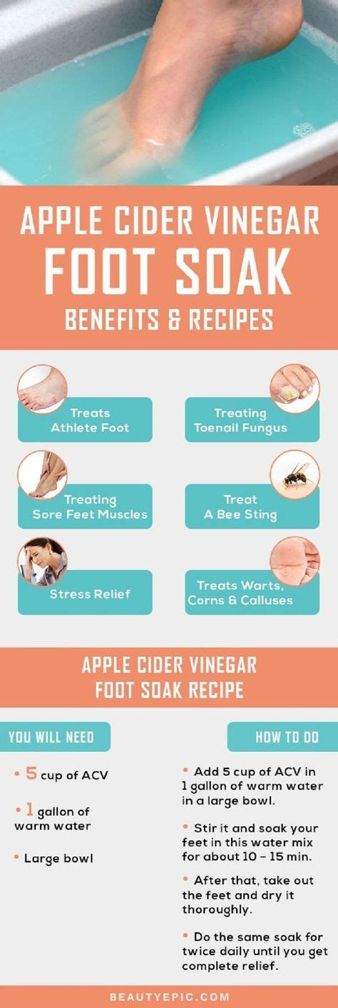 Care Tips And Recipes by Effective Apple Cider Vinegar Foot Soak Benefits And