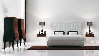 White Bedrooms Bedside Tables Night Stands Upholstered Headboards » Ideas Home Design