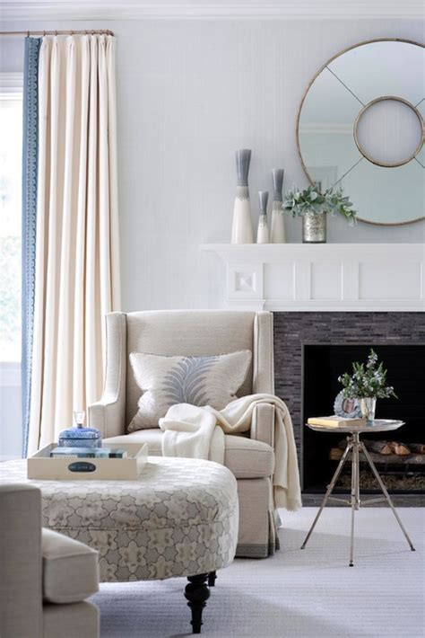 light blue and cream curtains cream curtains transitional living room muse interiors