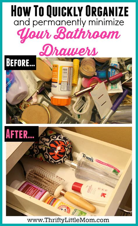 how to organize bathroom drawers quickly organize your bathroom drawers 187 thrifty little mom