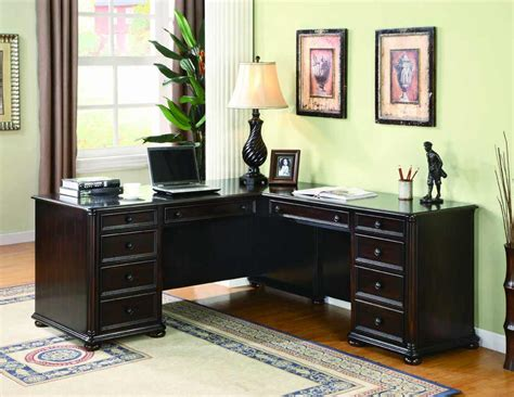 Home Office Furniture Black Office L Desk Ideas
