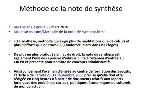 Modèle Note De Synthèse