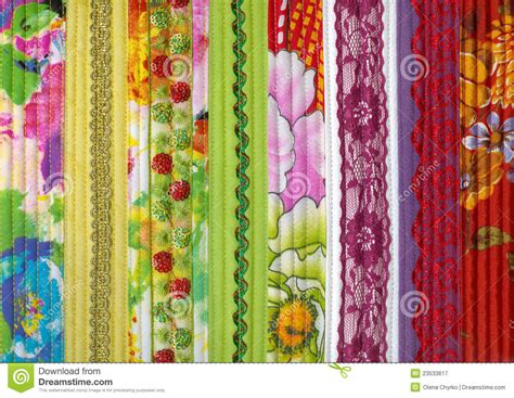 Handmade Fabric - detail of patchwork fabric handmade royalty free stock