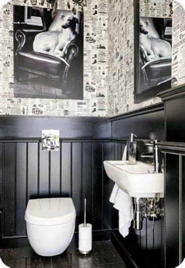 Half Bath Wainscoting by The Black Wainscoting Possibly With Black And White