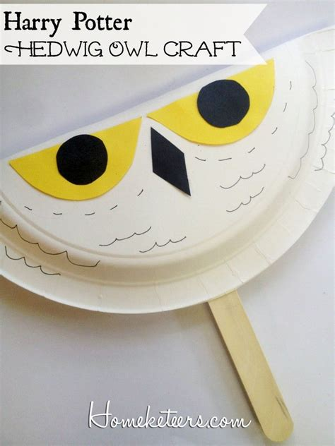 Easy Craft Harry Potter Hedwig Owl Fan Owls