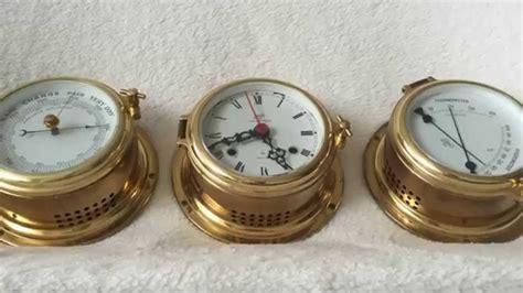 vintage items set of 3 schats nautical vintage items ship clock